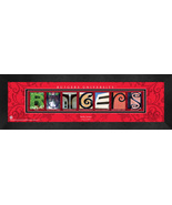 Personalized Rutgers University Campus Letter Art Framed Print - $39.95