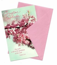 Spring Time Splendor Easter Wishes Vintage Greeting Card - $10.53