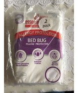 AllerEase Bed Bug Allergy Protection Zippered Pillow Protector 2 Pack - $18.07