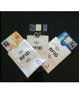 Set of 10 Safe Anti Theft RFID Blocking Credit Cards Sleeves Only $17.99... - $17.99