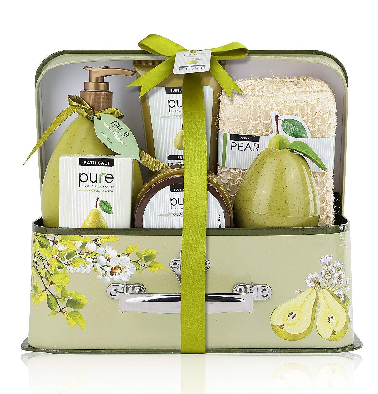 Christmas Gift Luxury Spa Gift Basket, PURE Spa Basket -Bath and Body Gift Set