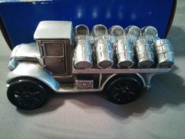 RARE BANTHRICO METAL BEER BARREL BANK TRUCK WITH ORIGINAL BOX! MADE IN U... - $28.70