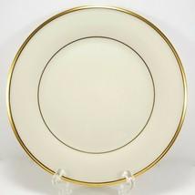 "Lenox Eternal Salad Plate 8"" Cream Gold Trim Factory 2nd Quality - $9.90"