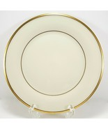 "Lenox Eternal Salad Plate 8"" Cream Gold Trim Factory 2nd Quality - $9.90"
