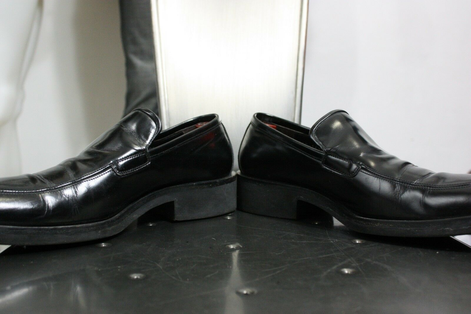 ea6dfe4f3 Gucci patent leather loafers 8 D shoes black vintage 90's made in Italy