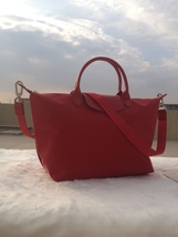 Longchamp Le Pliage Large Red Handbag Neo Shoulder Strap 1515578545 - $79.99