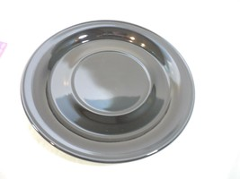 "Nancy Calhoun Solid Black Stoneware Underplate for gravy boat  8""  - $12.99"