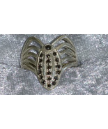 Vintage 9.25  Marcasite Sterling silver ring different Downton Abbey size 8 - $58.00