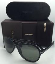 Polarisés Tom Ford Lunettes de Soleil Sergio Tf 379 02R 60-14 Noir Cadre W /