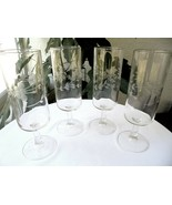 "Set of 4 Princess House Heritage Pattern Wine Flutes 6 7/8"" Tall  - £15.65 GBP"