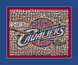 Cleveland Cavaliers Photo Mosaic Print Art- Over 50 players - 8x10 matted  - $42.00+