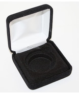 Lot of 10 Black Felt COIN DISPLAY GIFT METAL BOX holds 1-IKE or Silver E... - $49.45