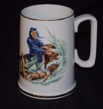 """1985 Norman Rockwell Museum Collection Mug / Small Stein - """"Braving the ... - $8.59"""