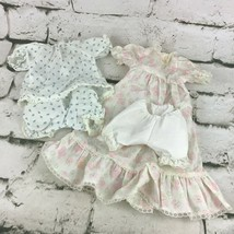 Vintage Doll Dress Lot Sweet Floral Prints 4 Pieces - $24.74