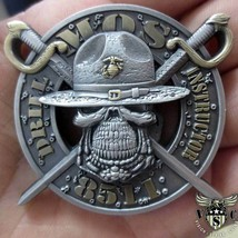 "MARINE CORPS MOS-1811 DRILL INSTRUCTOR 3D 2"" CHALLENGE COIN  - $15.19"