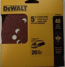 """DEWALT DWAS58040 40-Grit 5"""" Disc Sandpaper 5 Or 8 Hole 20-Pack - $4.21"""
