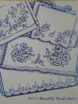 Vintage Aunt Martha's Hot Iron Transfers Beautiful Floral Motifs #3111 NOP - $5.99