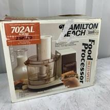 Vintage Hamilton Beach Food Processor 702AL Almond NEW 702-5 Complete NOS - $69.29