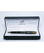 Parker sonnet Premier laque Vert GT deep green fountain pen in parker gi... - $210.00