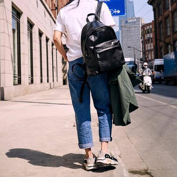 Sale, Full Grain Leather Women Backpack, Handmade Travel Backpack, School Backpa image 6