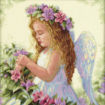 """Dimensions Passion Flower Angel Counted Cross Stitch Kit 35229 Sealed 11""""x11"""" - $37.21"""
