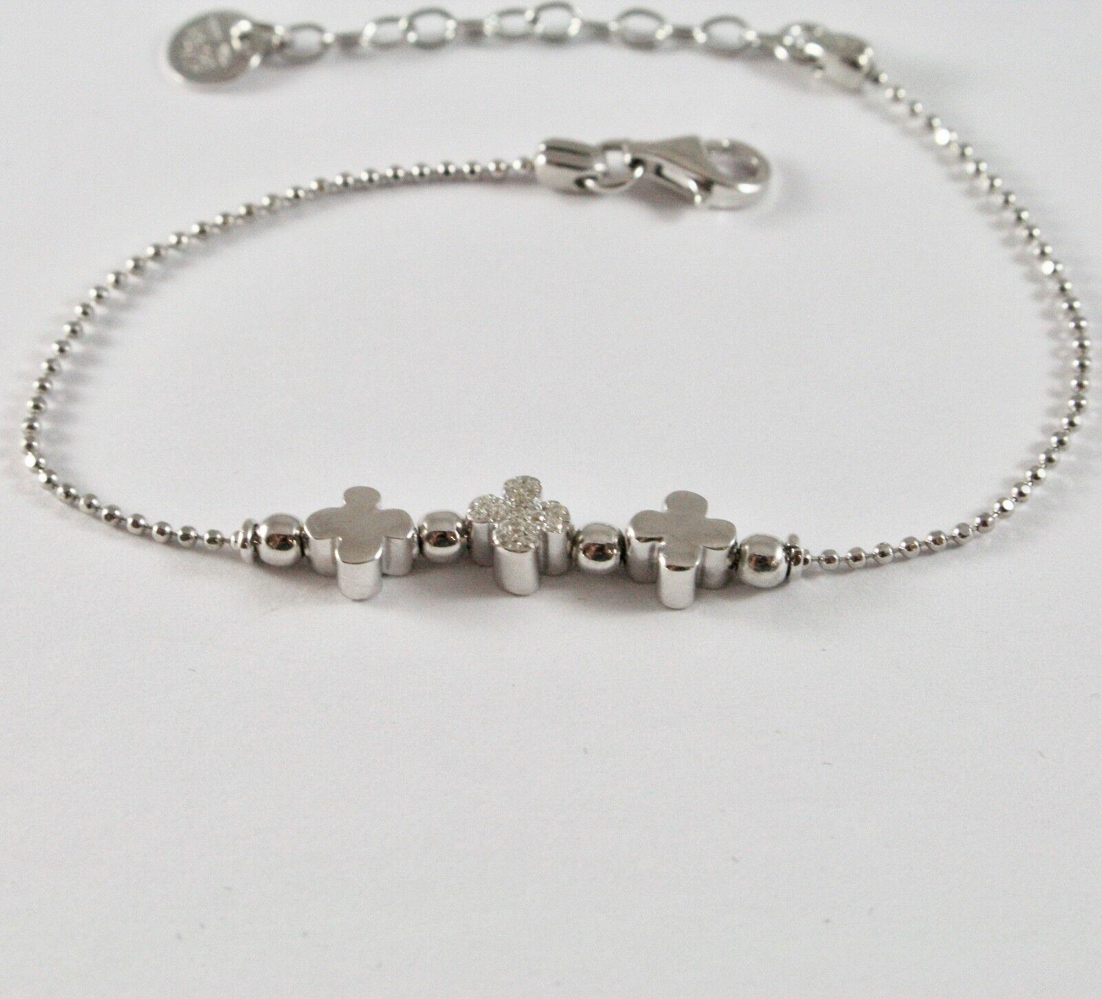 Armband 925 Silber Jack & Co A Flummi mit Kleeblätter mit Zirkonia JCB0782
