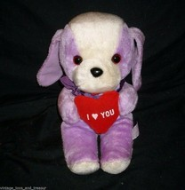 "12"" Vintage Ace Novelty Purple Puppy Dog I Love You Stuffed Animal Plush Toy - $27.70"