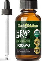Hemp Seed Oil Extract for Pain Relief, Stress, Anxiety, Sleep, Keto 1000... - $19.75