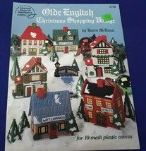 American School of Needlework 3108 OLDE ENGLISH CHRISTMAS SHOPPING VILLA... - $14.21