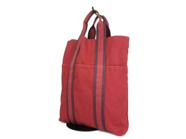 Auth HERMES Fourre Tout Red Canvas Tote Bag HF16599L - $219.00