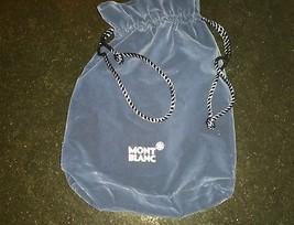 MONTBLANC BLUE VELVET  POUCH BAG  AUTHENTIC - $41.46