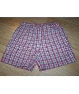 Girls Size 6 Talbots Kids Red Blue Plaid Checks Cotton Summer Shorts EUC - $12.00