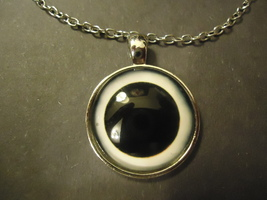 SOLAR ECLIPSE CABOCHON NECKLACE  #9263 >> COMBINED SHIPPING - $3.75