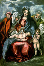 THE HOLY FAMILY WITH SAINT ANNE AND INFANT JOHN THE BAPTIST BY EL GRECO ... - $10.96+