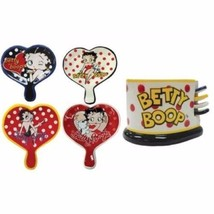 Tea Bag Holder Betty Boop With Storage Unit Set Of 4 Birthday Gift For M... - £30.35 GBP