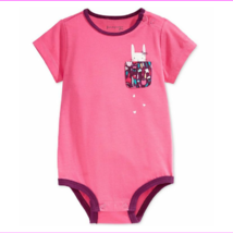 First Impressions Baby Girls' Kitty Pocket Bodysuit, Pink, Size 3-6 Months - $0.98