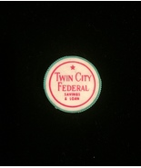Vintage 60s Twin City Federal (TCF) Savings and Loan green pencil sharpener - $7.00