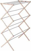 Household Essentials 5001 Collapsible Folding Wooden Clothes Drying Rack... - $36.62