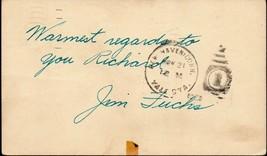 JIM FUCHS Autograph on GPC, shotput Olympian - $8.91