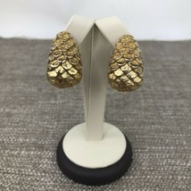 Vintage Givenchy Paris Signed Runway Gold Tone Clip On Statement Earring... - $133.64