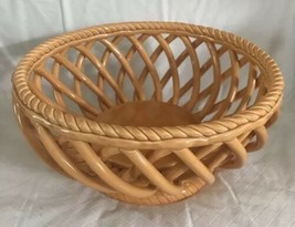 Tabletops Unlimited ESPANA Lattice Woven Basket Serving Bowl Centerpiece... - $32.66