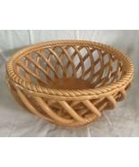 Tabletops Unlimited ESPANA Lattice Woven Basket Serving Bowl Centerpiece... - $32.66