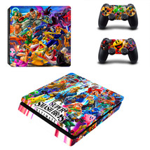 PS4 Slim Console Controllers Super Smash Bros Ultimate Vinyl Decal Skin Stickers - $13.50