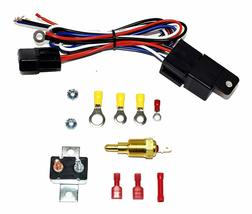 """140041 16"""" Heavy Duty 12V Radiator Electric Wide Curved Blade FAN & RELAY image 8"""