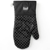 Food Network Heat Resistant Silicone Oven Mitt Pot Holder Charcoal Grey NWT - $14.99