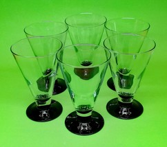 Luminarc France 1960s Small Elegant Beverage Glasses Glass Glassware Ve... - $49.00