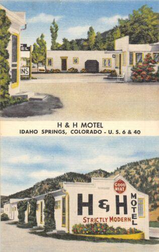 H & H Motel Idaho Springs Colorado US 6 40 linen postcard