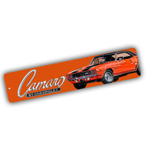 1969 Chevrolet Camaro Hugger Orange Design 4x18 in. Aluminum Street Sign - $17.77