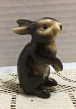 "Vintage GOEBEL #298 Miniature 3"" Brown Bunny RABBIT FIGURINE W. Germany - $11.25"