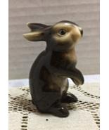 "Vintage GOEBEL #298 Miniature 3"" Brown Bunny RABBIT FIGURINE W. Germany - $11.25"